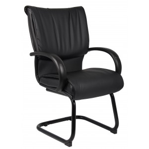 Mid Back Black LeatherPlus Guest Chair