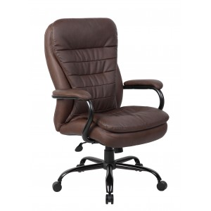 Heavy Duty Double Plush LeatherPlus Chair - 400 Lbs.