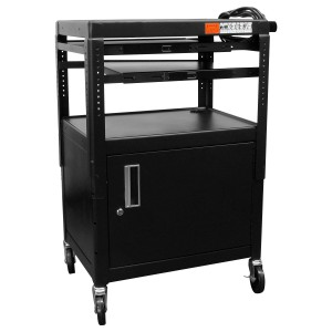 Adj Cart w Cabinet 2 Pull-Out