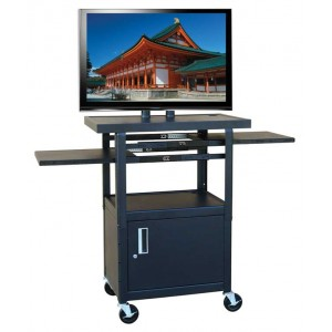 Flat Panel Cart with Cabinet