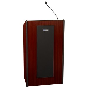 Presidential Plus Lectern - Wired Sound - Mahogany