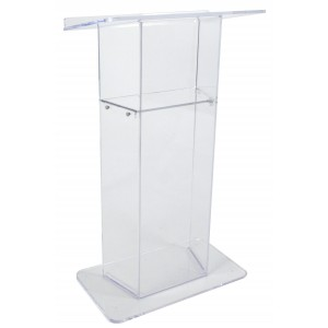 "Clear  ""Wing""  Style Acrylic Lectern - Clear"