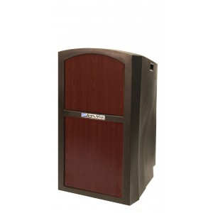 Pinnacle Full Height Lectern - Non Sound - Mahogany