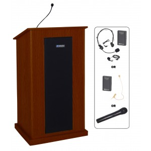 Chancellor Lectern - Wireless Sound - Mahogany