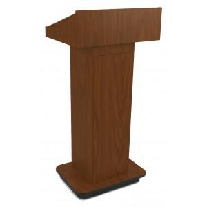 Executive Column Lectern - Non Sound - Mahogany