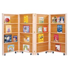Jonti-Craft® Mobile Library Bookcase - 4 Sections