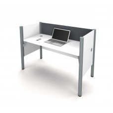 Pro-Biz Simple workstation in White with Gray Tack Board