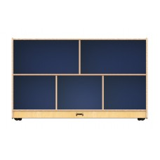 Jonti-Craft® Low Single Mobile Storage Unit – Navy Blue