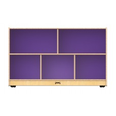 Jonti-Craft® Low Single Mobile Storage Unit – Purple