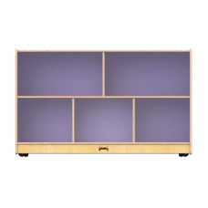 Jonti-Craft® Low Single Mobile Storage Unit – Lilac