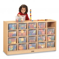 MapleWave® 20 Cubbie-Tray Mobile Storage - with Clear Trays