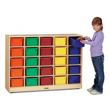 Jonti-Craft® 25 Cubbie-Tray Mobile Storage - with Clear Trays