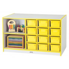 Rainbow Accents® Mobile Storage Island - without Trays - Teal