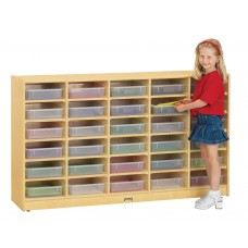 Jonti-Craft® 30 Paper-Tray Mobile Storage - with Clear Paper-Trays