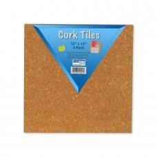 """12"""" x 12"""" Cork Tiles (12) 4 Packs"""