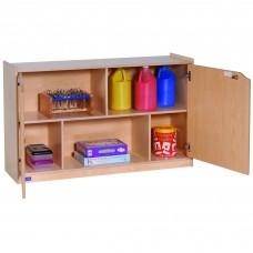 "30""H 2-Shelf Storage with Doors"