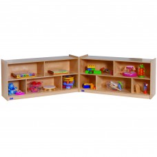 "24""H Single Toddler 2-Shelf Fold-N-Lock Mobile Storage"