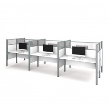 Pro-Biz Six workstation in White