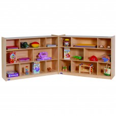 "36""H Single 3-Shelf Fold-N-Lock Mobile Storage"