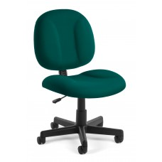 OFM Comfort Series Superchair Armless Fabric Task Chair, Teal