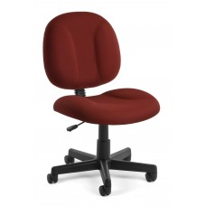 OFM Comfort Series Superchair Armless Fabric Task Chair, Wine