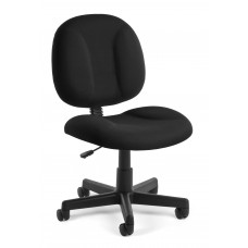 OFM Comfort Series Superchair Armless Fabric Task Chair, Black