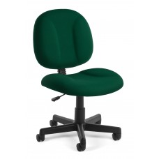 OFM Comfort Series Superchair Armless Fabric Task Chair, Green