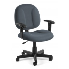 OFM Comfort Series Superchair Fabric Task Chair with Arms, Gray