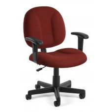 OFM Comfort Series Superchair Fabric Task Chair with Arms, Wine