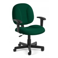 OFM Comfort Series Superchair Fabric Task Chair with Arms, Green