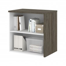 Bestar Gemma Storage Unit - Walnut Grey & White