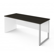 Pro-Concept Plus Table with Rectangular Metal Leg in White & Deep Grey