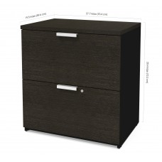 Pro-Concept Plus Lateral File in Deep Grey & Black