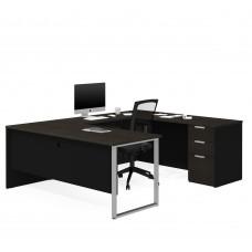 Pro-Concept Plus U-Desk in Deep Grey & Black
