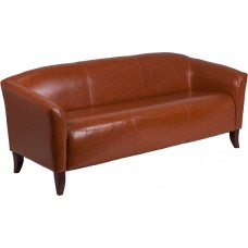 HERCULES Imperial Series Cognac Leather Sofa [111-3-CG-GG]