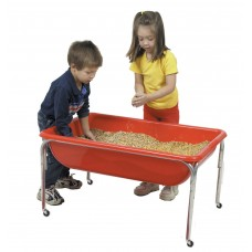 Children's Factory Large Sensory Table for Kids in Red (36 x 24 x 24 in)