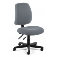 OFM Core Collection Posture Series Armless Swivel Mid-Back Task Chair, in Gray (118-2-801)