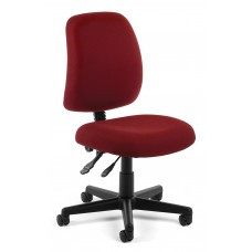 OFM Core Collection Posture Series Armless Swivel Mid-Back Task Chair, in Wine (118-2-803)