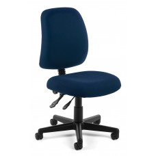 OFM Core Collection Posture Series Armless Swivel Mid-Back Task Chair, in Navy (118-2-804)