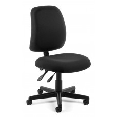 OFM Core Collection Posture Series Armless Swivel Mid-Back Task Chair, in Black (118-2-805)