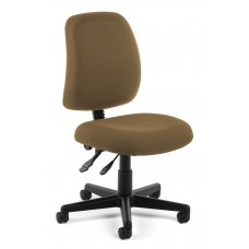 OFM Core Collection Posture Series Armless Swivel Mid-Back Task Chair, in Taupe (118-2-806)