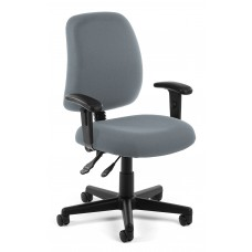 OFM Core Collection Posture Series Swivel Mid-Back Task Chair with Arms, in Gray (118-2-AA-801)