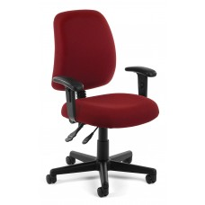 OFM Core Collection Posture Series Swivel Mid-Back Task Chair with Arms, in Wine (118-2-AA-803)