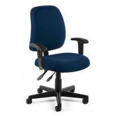 OFM Core Collection Posture Series Swivel Mid-Back Task Chair with Arms, in Navy (118-2-AA-804)