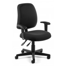 OFM Core Collection Posture Series Swivel Mid-Back Task Chair with Arms, in Black (118-2-AA-805)
