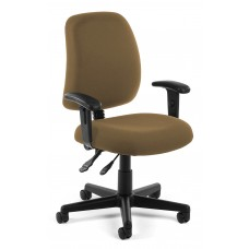 OFM Core Collection Posture Series Swivel Mid-Back Task Chair with Arms, in Taupe (118-2-AA-806)