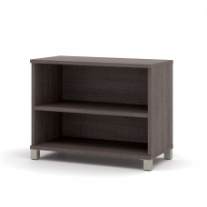 Pro-Linea 2-shelf bookcase in Bark Gray