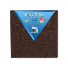 """12"""" x 12"""" Dark Cork Tiles (24) 4 Packs"""