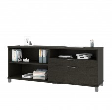 Pro-Linea Credenza with two drawers in Deep Grey