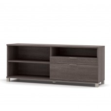 Pro-Linea Credenza with two drawers in Bark Gray
